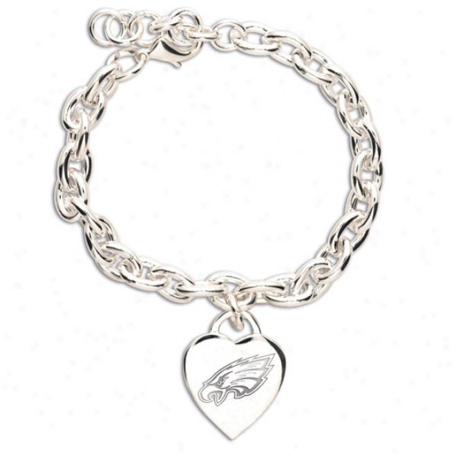 Philadelphia Eagles Heart Charm Bracelet
