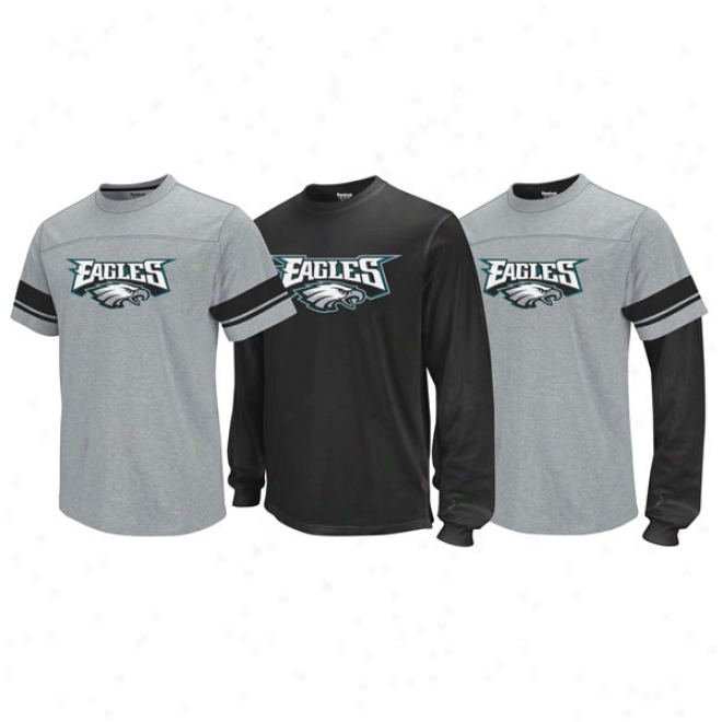Philadelphia Eagles Kid's 4-7 Option 3-in-1 T-shirt Combo Pack