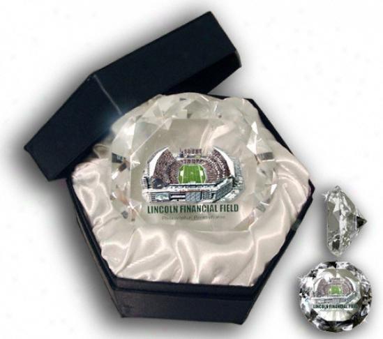 Philadelphia Eagles iLncoln Financial Glass Diamond