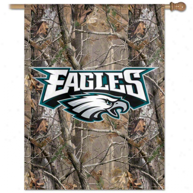 Philadelphia Eagles Realtree Vertical Flag: 27x37 Banner