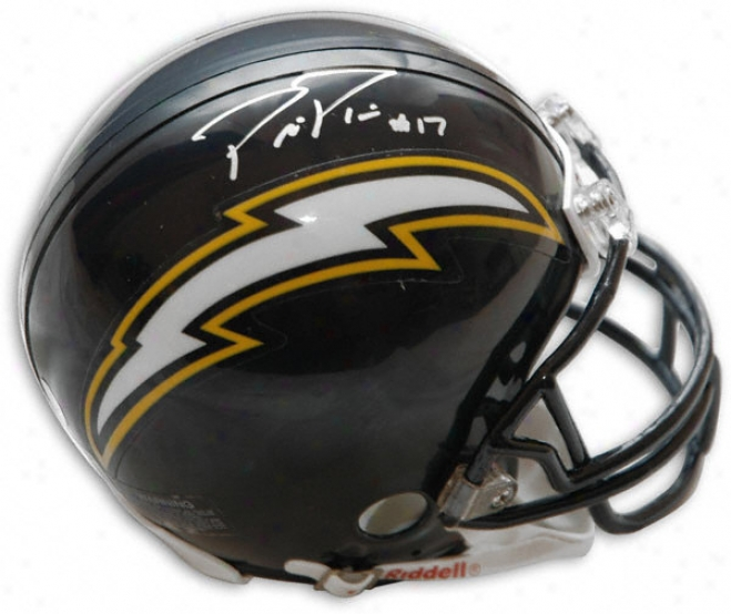 Philip Rivers San Diego Chargers Autographed Mini Helmet
