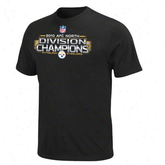 Pittsburgh Steelers 2010 Afc North Division Champions Official Locker Room T-shirt