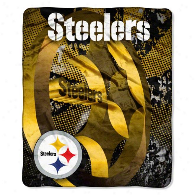 Pittsburgh Steelers 50x60 Grunge Micro Raschel Throw