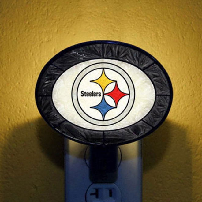 Pittsburgh Steelers Art Glass Night Light