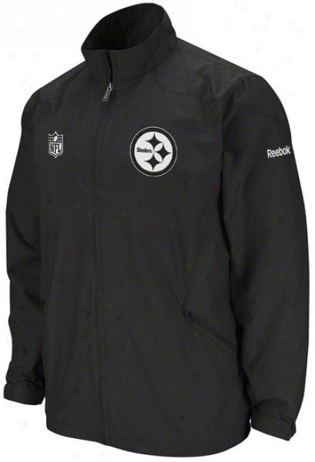 Pittsburgh Steelers Black 2011 Sieeline Static Storm Libgtweight Jacket