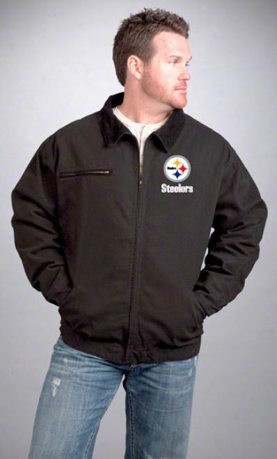 Pittsburgh Steelers Jacket: Black Reebok Tradesman Jacket