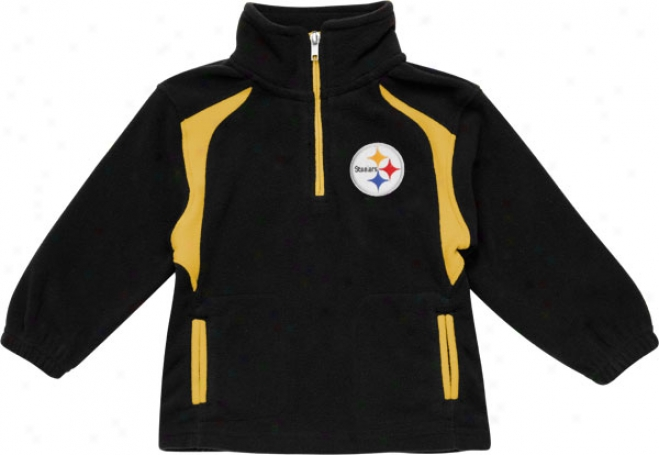 Pittsburgh Steelers Kid's 4-7 Placard Game Quarter-zip Fleece Jacket