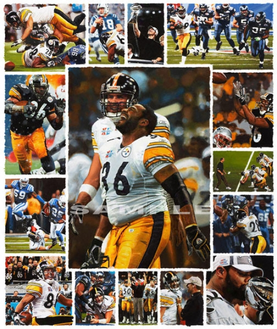 Pitgsburgh Steelers - &quot06 Champions&quot - Large - Unframed Gicleee