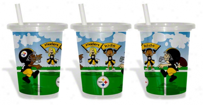 Pittxburgh Steelers To-go Sippy Cup 3-pack