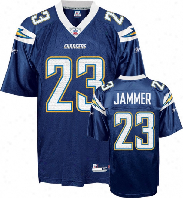Quentin Jammer Jersey: Reebok Navy Replica #23 San Diego Chargers Jersey