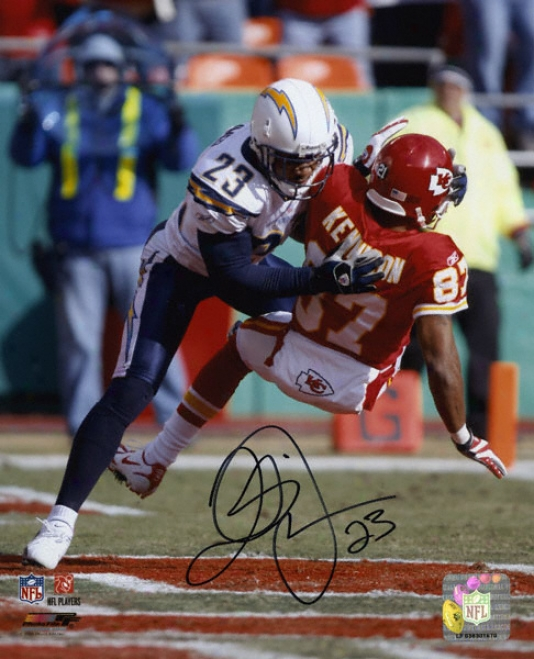 Quentin Jammer San Diego Chargers - Vs. Chiefs - Autographed 8x10 Photograph