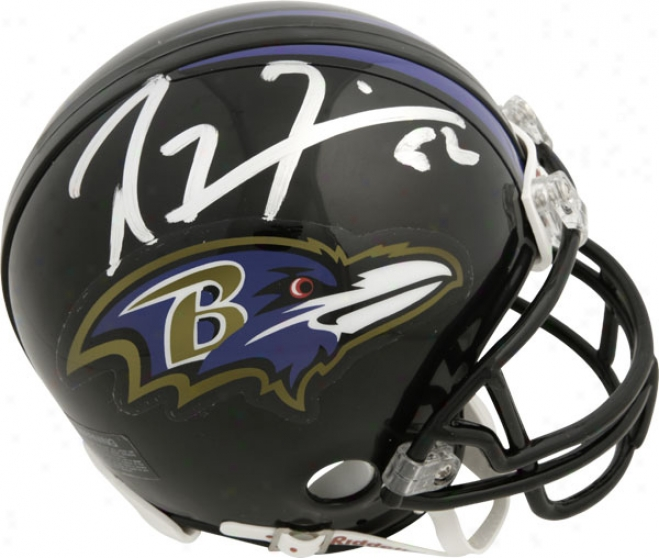 Ray Lewis Baltimore Ravens Autographed Riddell Mini Helmet