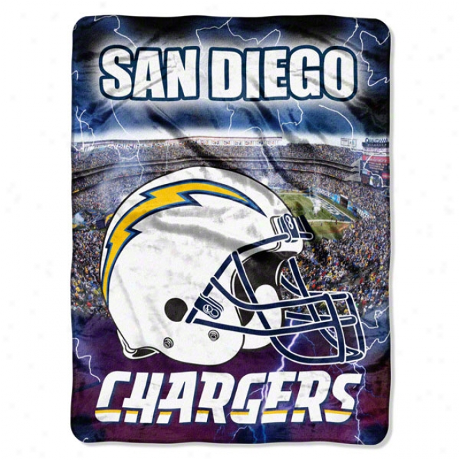 San Diego Chargers 60x80 Aggression Raschel Throw