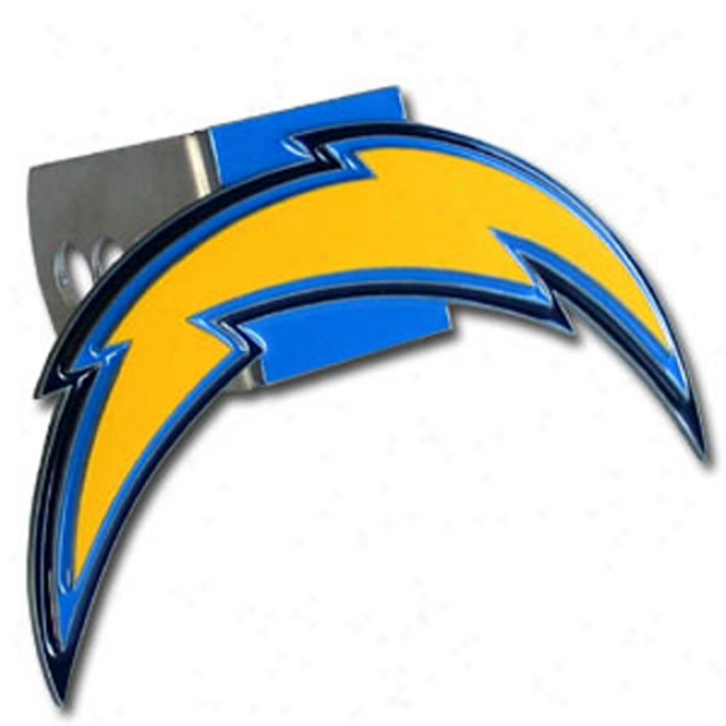 San Diego Chargers Carved Logo Hitch Cover