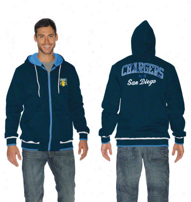San Diego Chargers First Pick Full-zip Hooded Sweatshirt