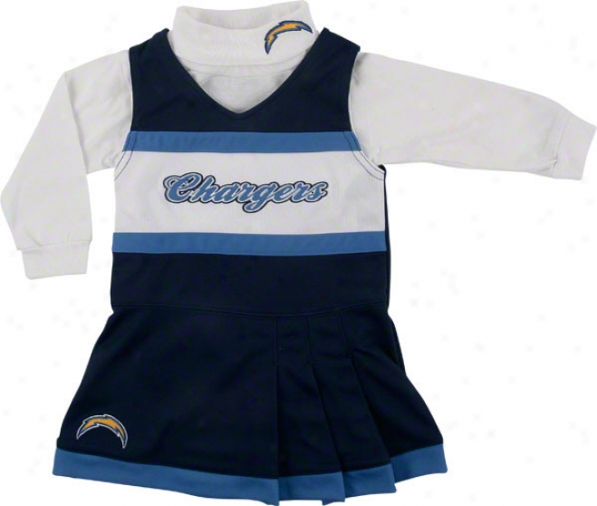 San Diego Chargers Girl's 4-6 Jumper And Turtleneck Set