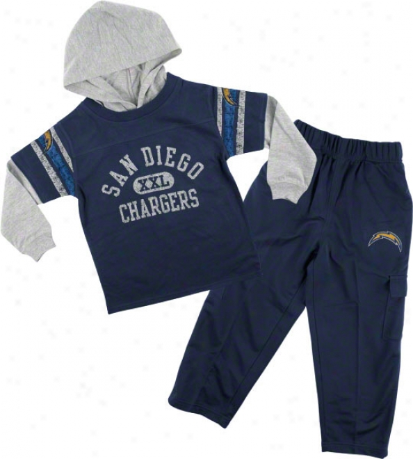 San Diego Chargers Kid's 4-7 Faux Layered Jersey Amd Pant Set