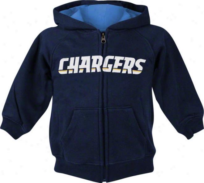 San Diego Chargers Kids (4-7) Sportsman Full-zip Fleece Hooded Swwatshirt