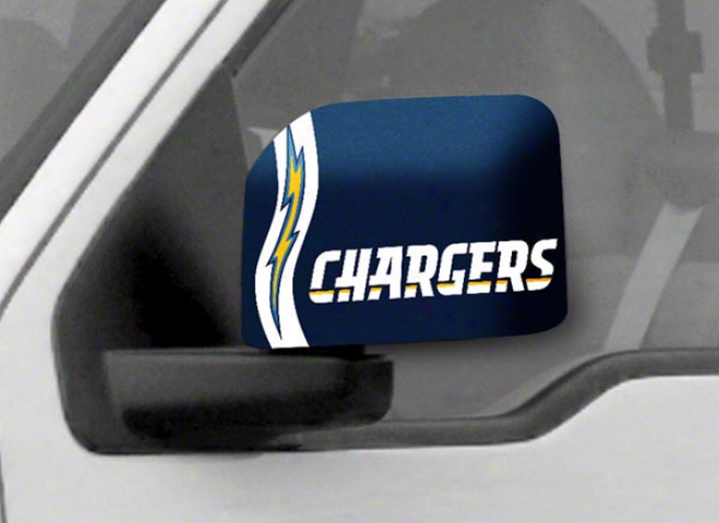 San Diego Chargers Large Car Mirror Covers