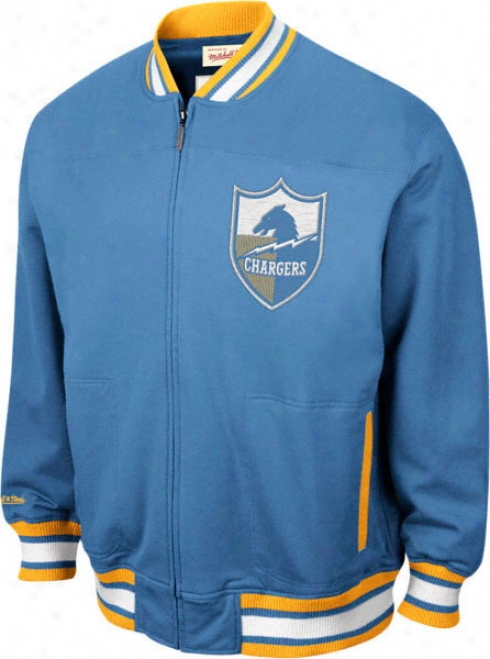 San Diego Chargers Mitchell & Ness Sideline Track Jacket