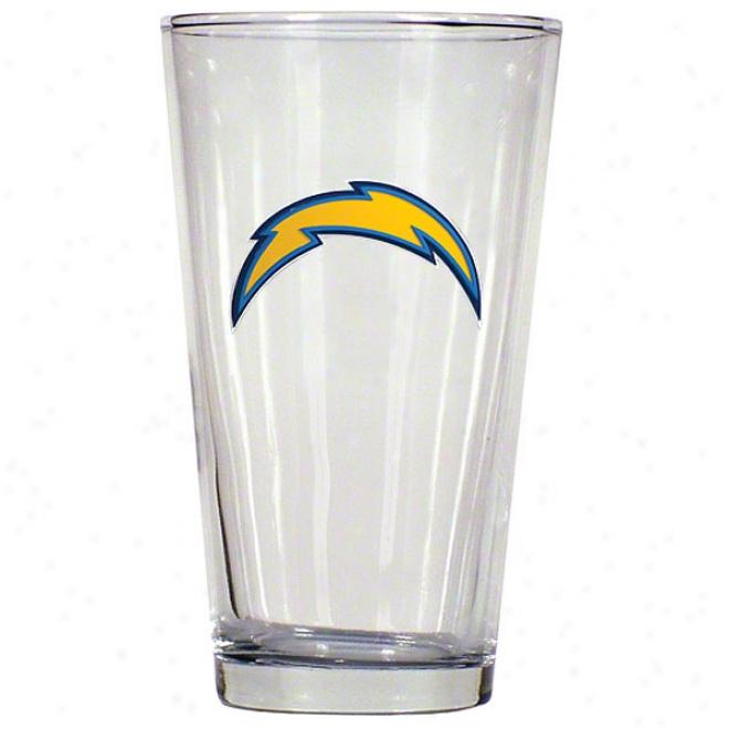 San Diego Chargers Pint Glasd