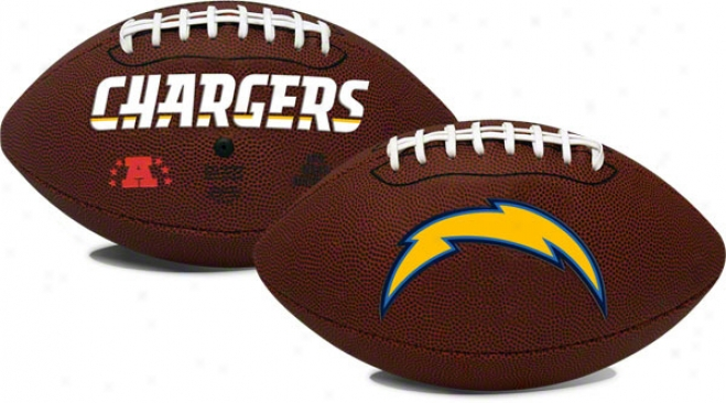 San Diego Chargers &uotgame Time&quot Full Sixe Football