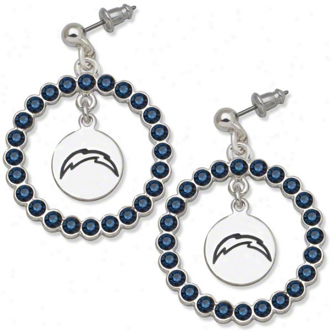 San Diego Chargers Spirit Crystal Earrings