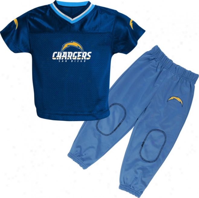 San Diego Chargers Todddler Football Jersey And Pant Set