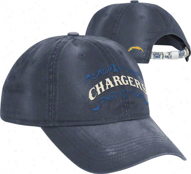San Diego Chargers Women's Hat: Paisley Slouch Adjustable Hat