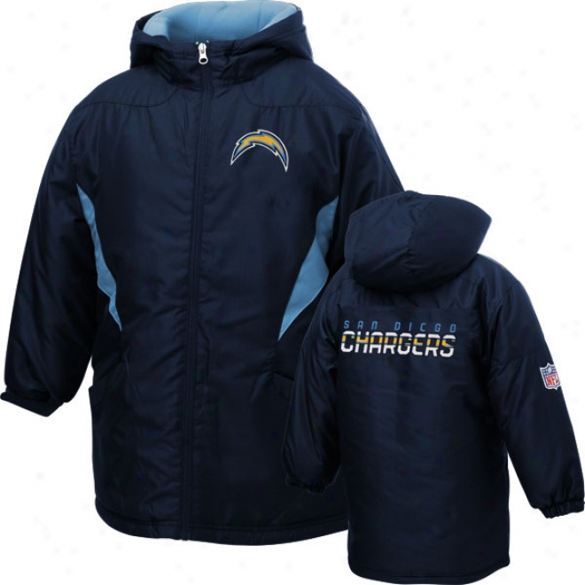San Diego Chargers Youth Sideline Momentum Mid-weigh tJacket