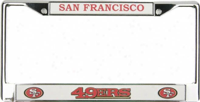 San Francisco 49ers Chrome Permit Plate Frame