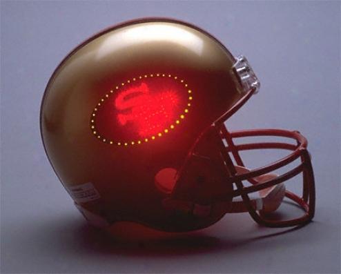 San Francisco 49ers Fiber Optic Full Size Repljca Helmet