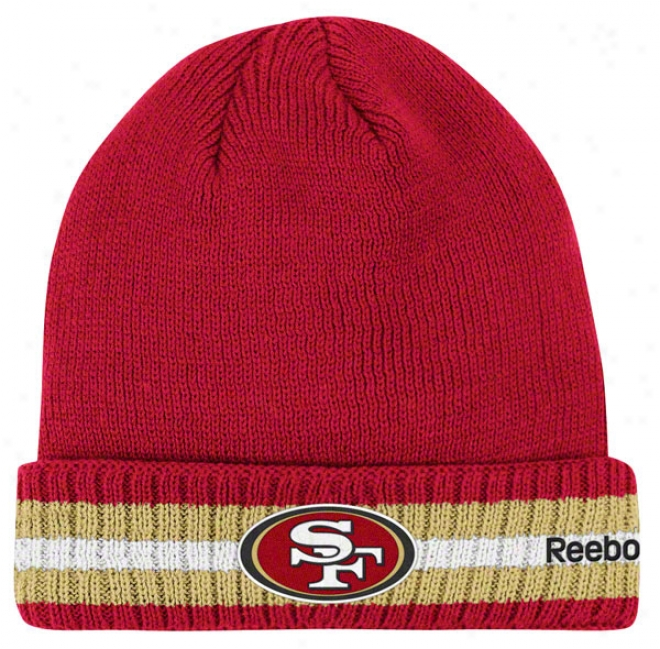 San Francixco 49ers Knit Hat: 2011 Coaches Sideline Cuffed Knit Hat