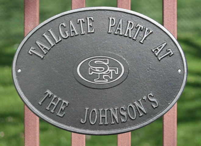 San Francisco 49ers Personalized Pewter And Soft and clear  Indoor/outdoor Plaque