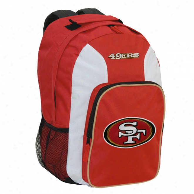 San Francisco 49ers Red Youth Southpaw Backpack