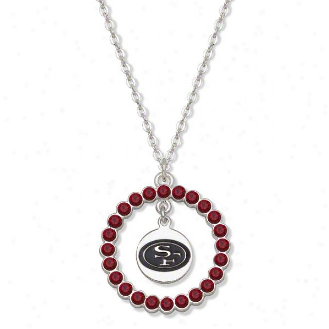 San Francisco 49ers Spirit Crystal Necklace