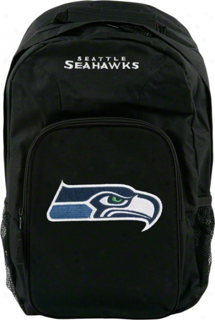 Seattle Seahawks Black Youth Southpaw Backpack