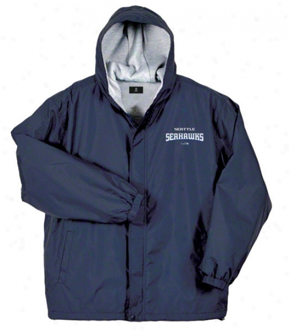 Seattle Seahawks Jacket: Navy Reebok Legacy Jacket