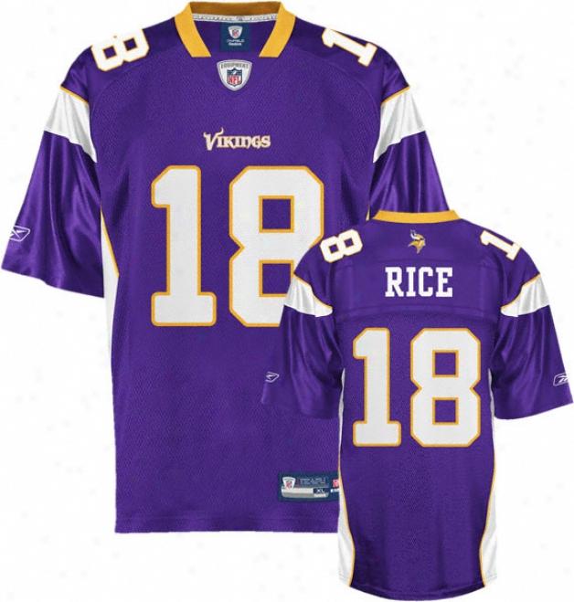 Sidney Rice Jersey: Reebok Purple Replica #18 Minnesota Vikings Jersey