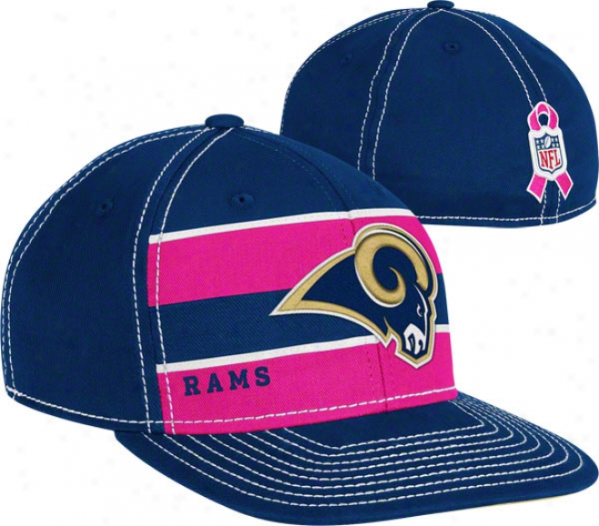St. Louis Rams 2011 Breast Cancer Awareness Player Sideline Flex Hat