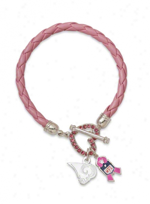 St. Louis Rams Breast Cancer Awareness Bracelet