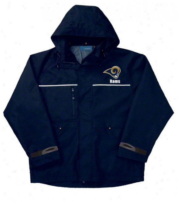 St. Louis Rams Jacket: Navy Reebok Yukon Jacket