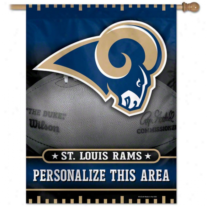 St. Louis Rams Personalized Vertical Flag: 27x37 Banner
