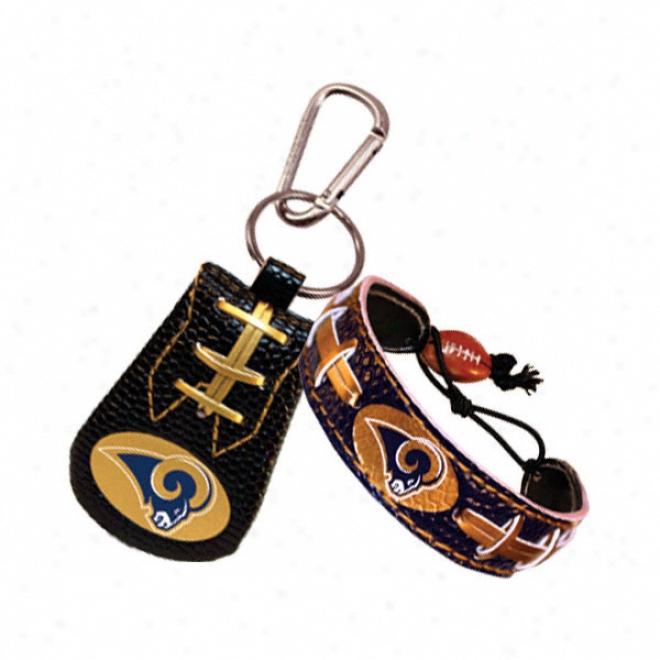 St. Louis Rams Team Color Bracelet & Keychain Set