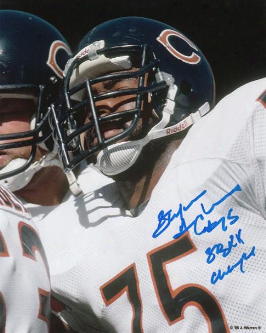 Stefan Humphries Chicago Bears Autographed 8x10 Photograph Wiht Sb Xx Champs Inscription