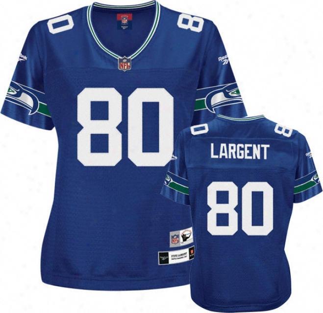 Steve Largent Reebok Premier Throwback Player Seattle Seahawks Women's Jersey