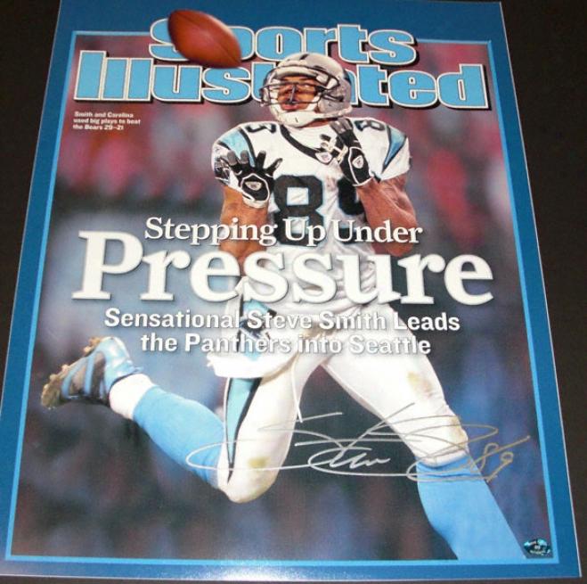 Steve Forge Carolina Panthe5s Autographed 16x20 Sports Illustrated Counterbalance