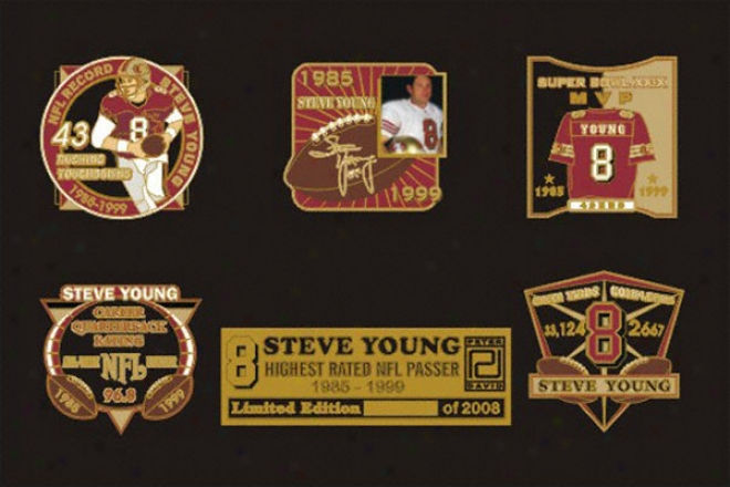 Steve Young 2005 Hall Of Fame 5 Pin Set