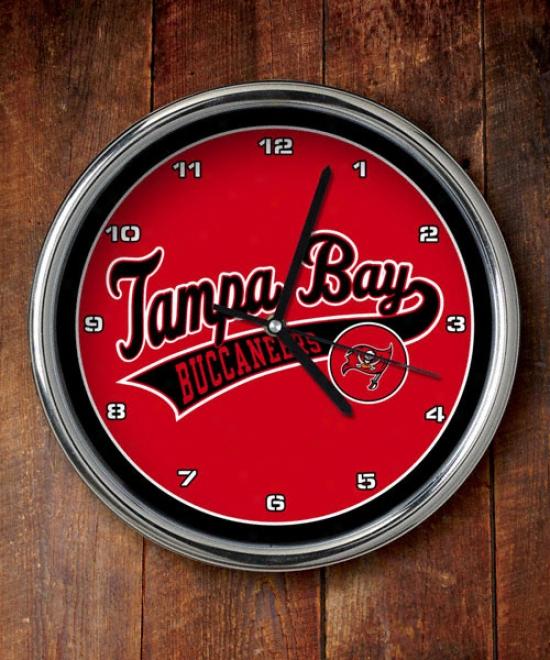 Tampa Bay Buccaneeds Chrome Clock