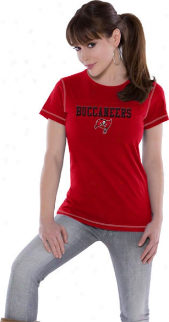 Tampa Bayy Buccaneers Focus Touch Organic Fashion Top - Handle By Alyssa Milano